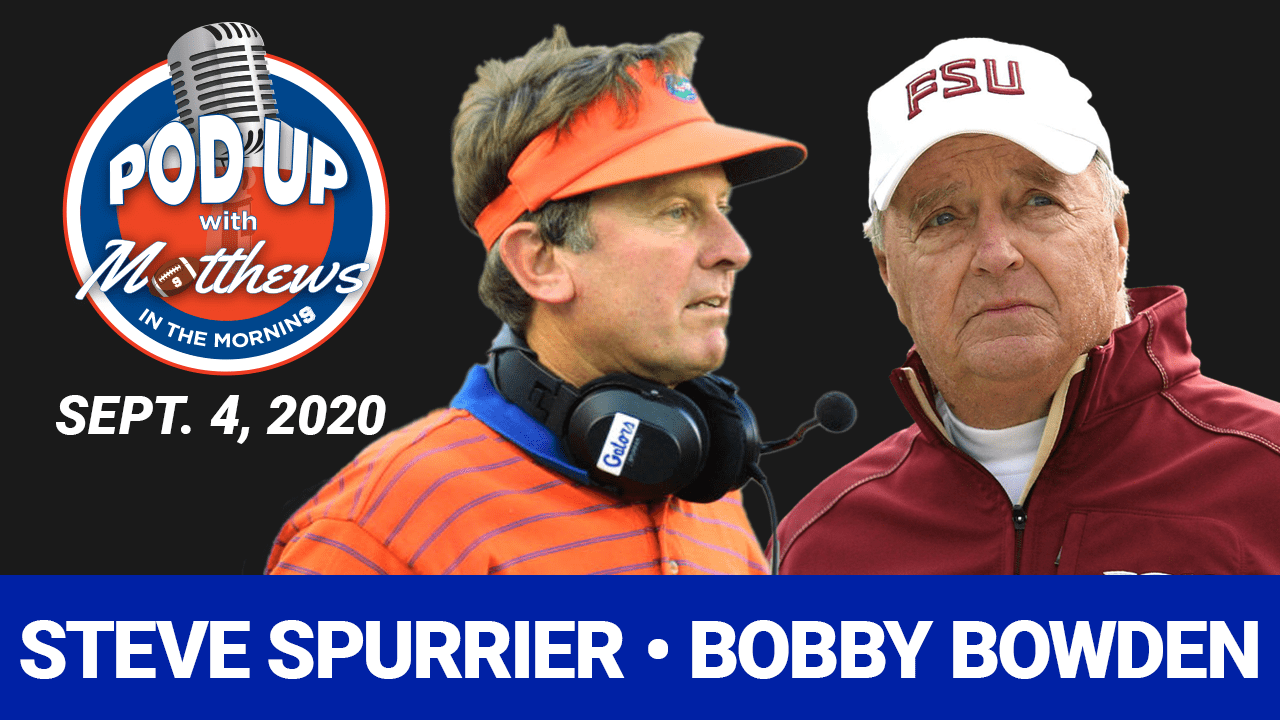 Steve Spurrier and Bobby Bowden on PodUp with Matthews in the Morning