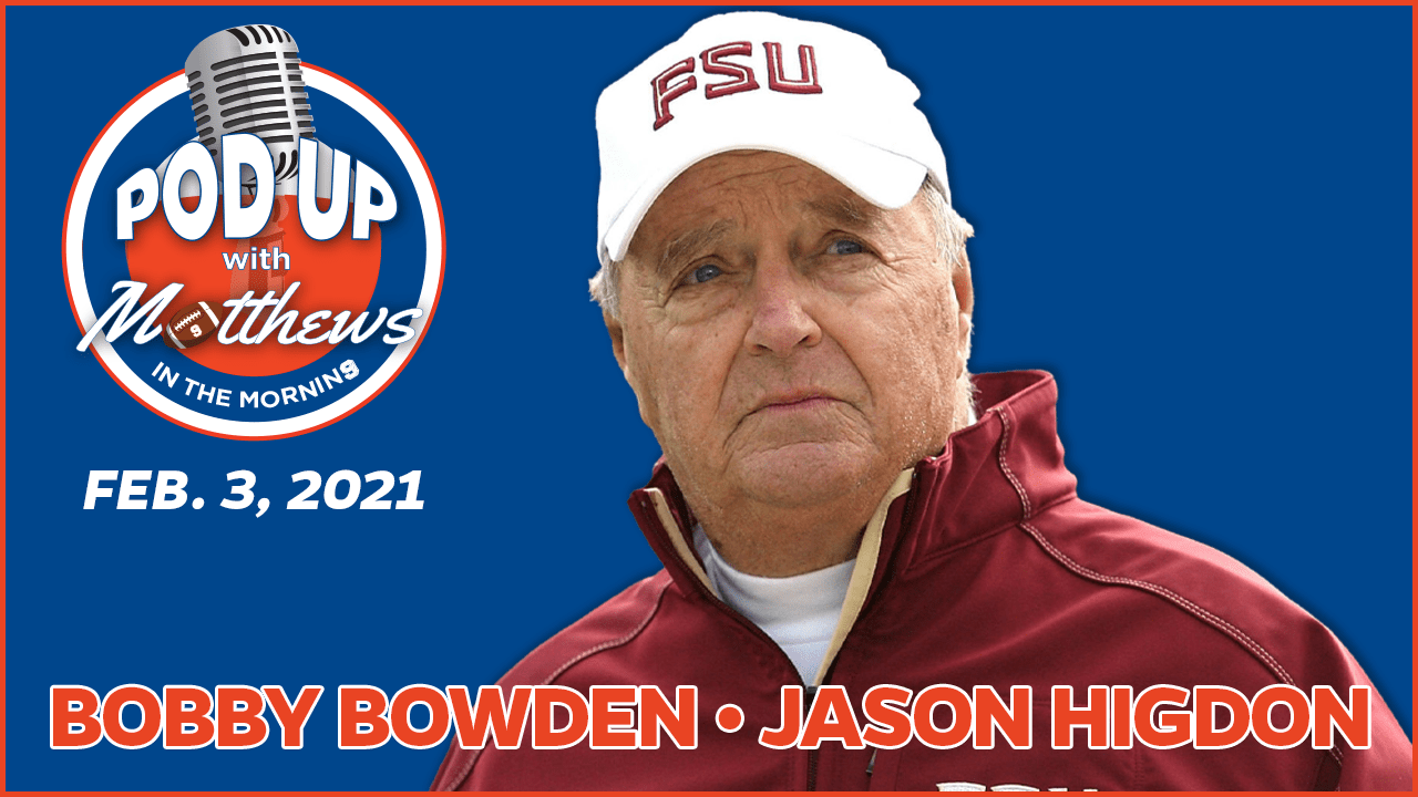 Bobby Bowden on PodUp with Matthews in the Morning
